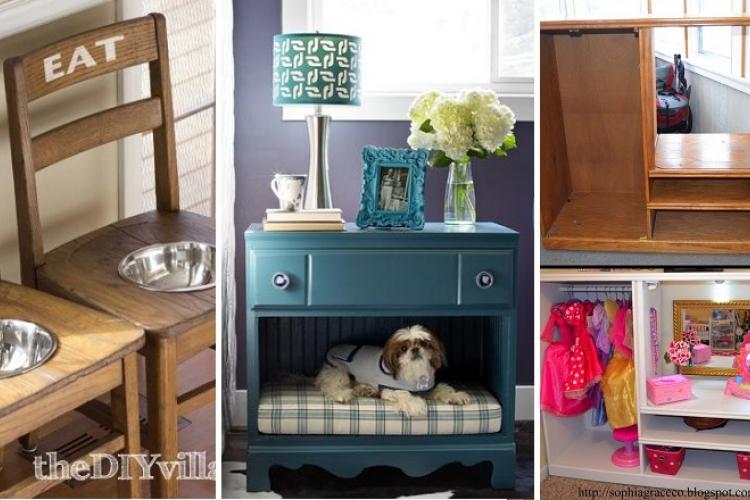 30 incroyables transformations de vieux meubles e zapping - Transformation de meuble ...